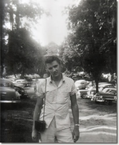 Elvis taking a break during a heavy tour schedule - May 1955