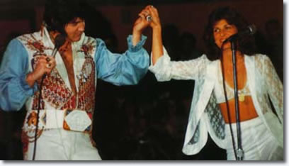 Elvis and Kathy Westmoreland - Septermber 6, 1976 - Von Braun Civic Center, Huntsville, Al
