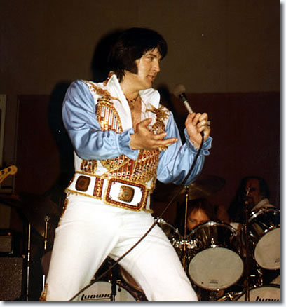 Elvis Presley at the Community Center Arena, Tucson, Az June 1, 1976