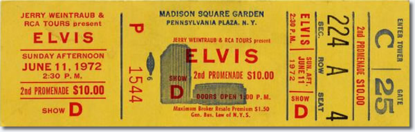 Ticket for Madison Square Garden, New York City, Ny - June 11 2.30pm Show